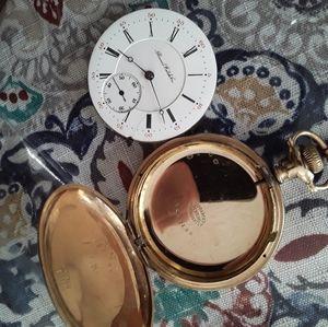 1900s antique gold pocketwatch Illinois Fahys vtg
